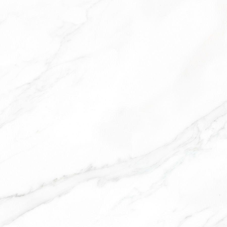 Et voici le carrelage pour la salle d'eau du bas, un carrelage imitation marbre brillant très légèrement veiné. <br /> Modèle Marmi Statuario Lap. Ret. de chez La Fabbrica - carreaux de 80 x 80 cm