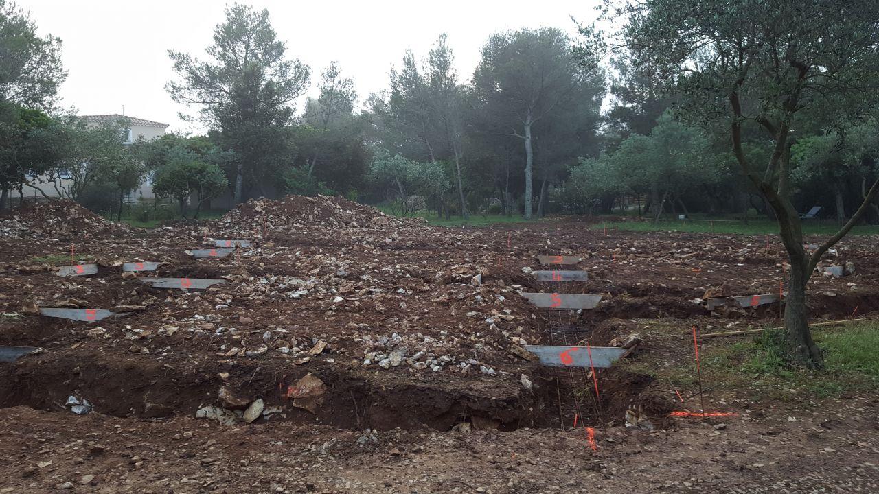 Réalisation des fouilles