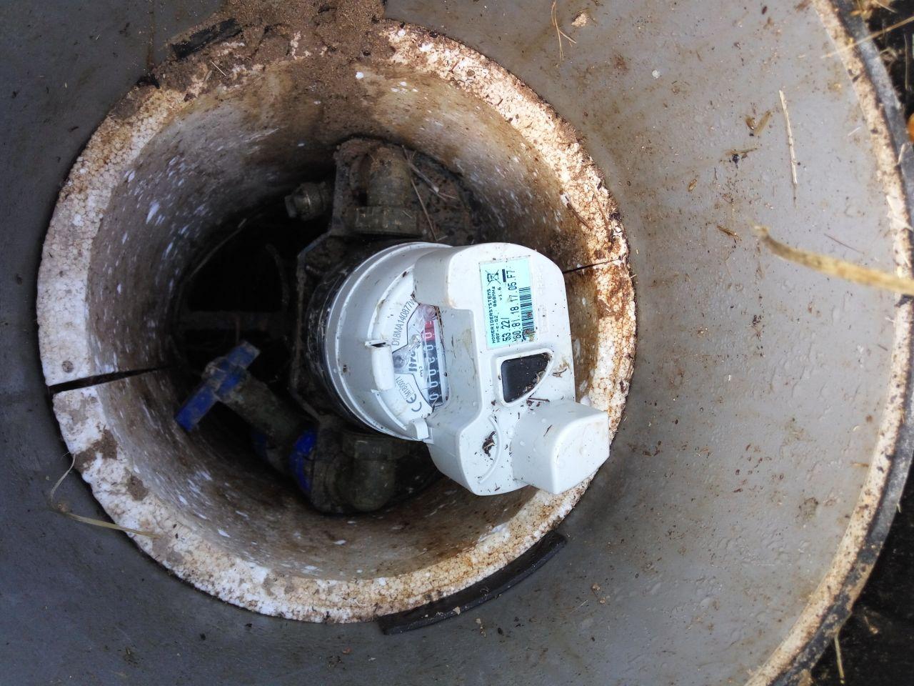 compteur d'eau installé par Véolia