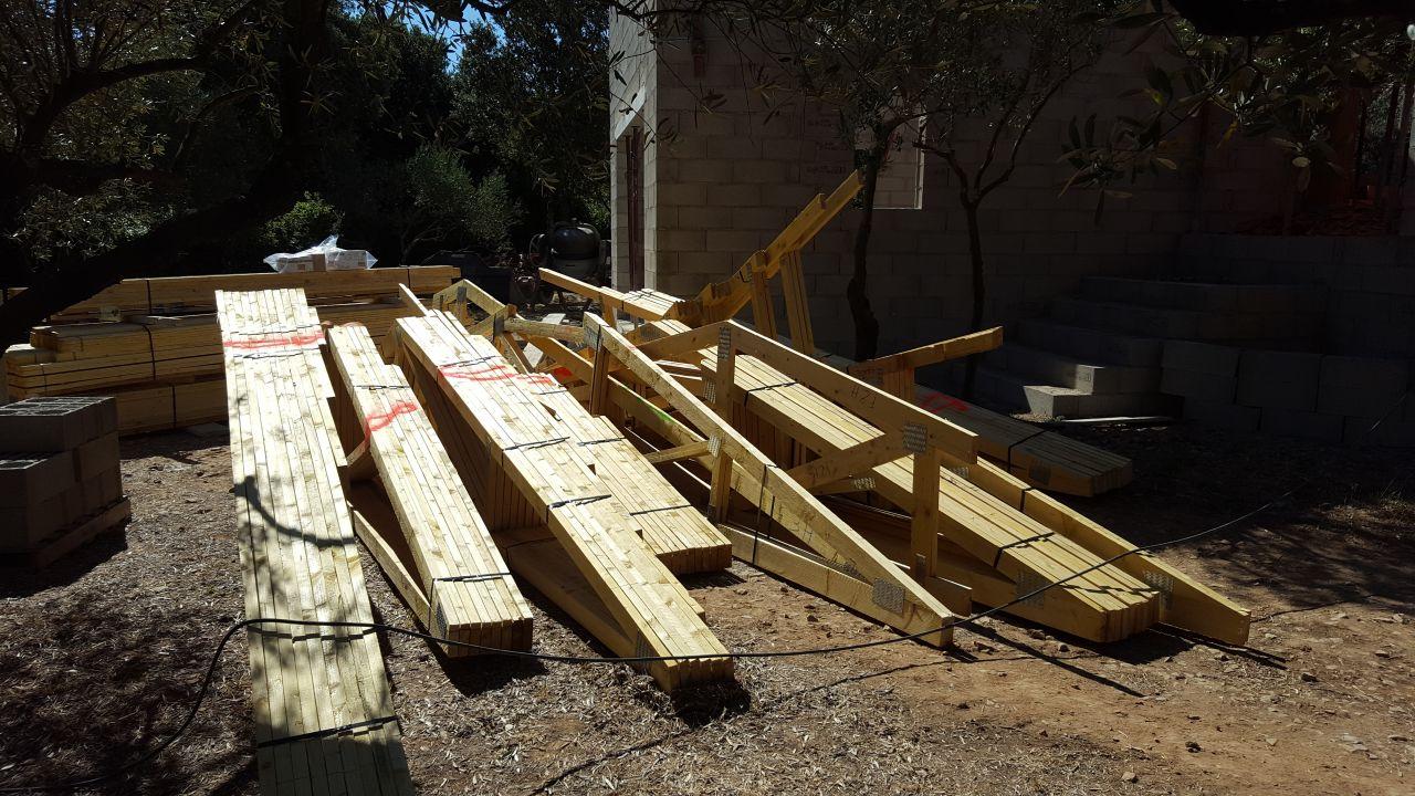 Fermettes pour les 4 toitures
