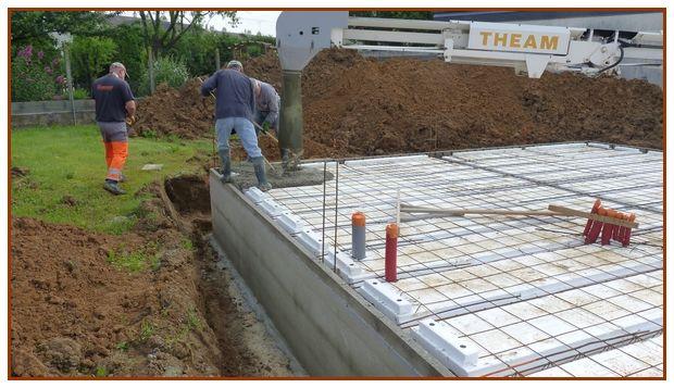 Coulage en continu de la dalle plancher pour en assurer la rigidité