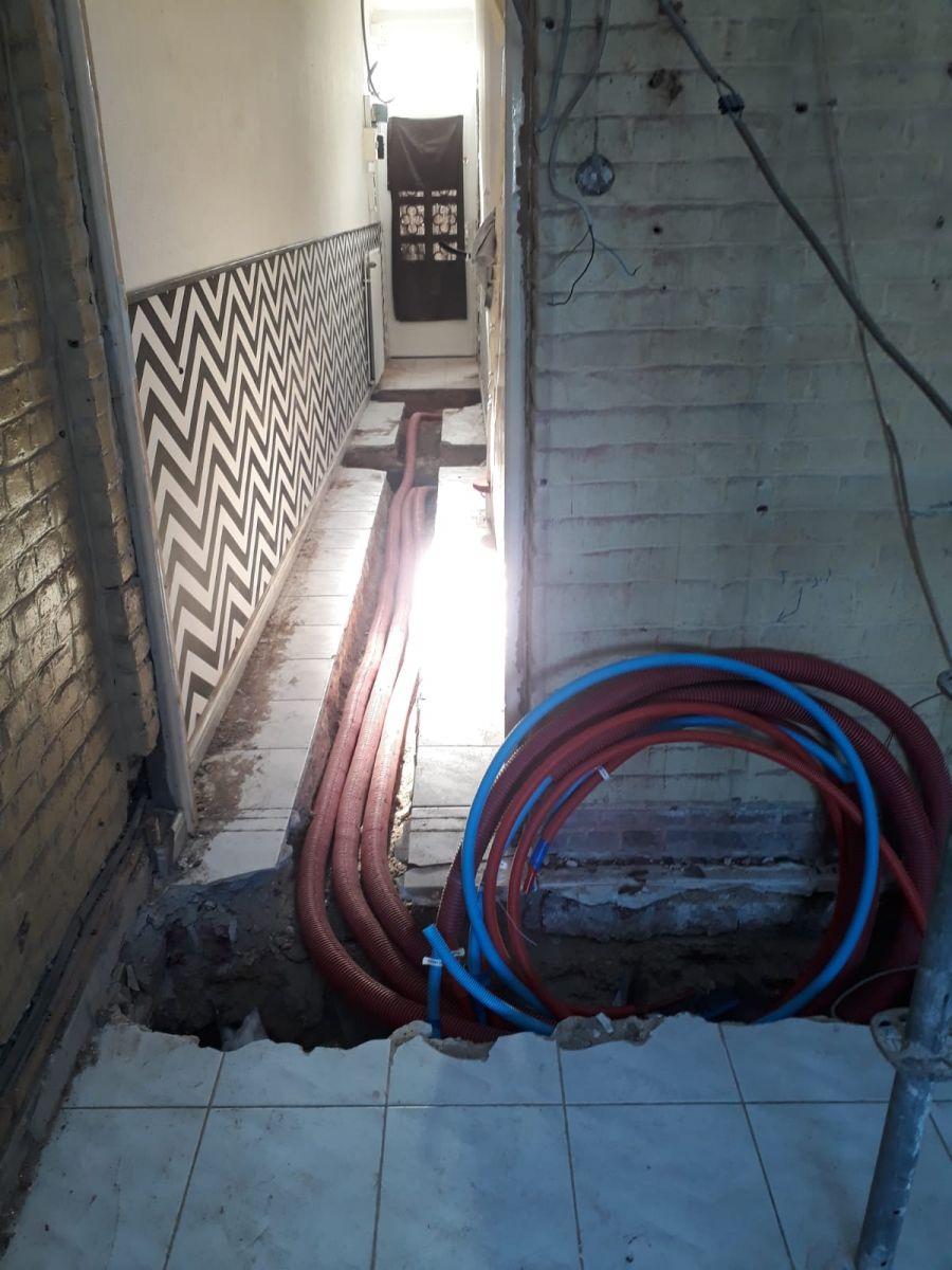 Passage des gaines pour le PER des étages