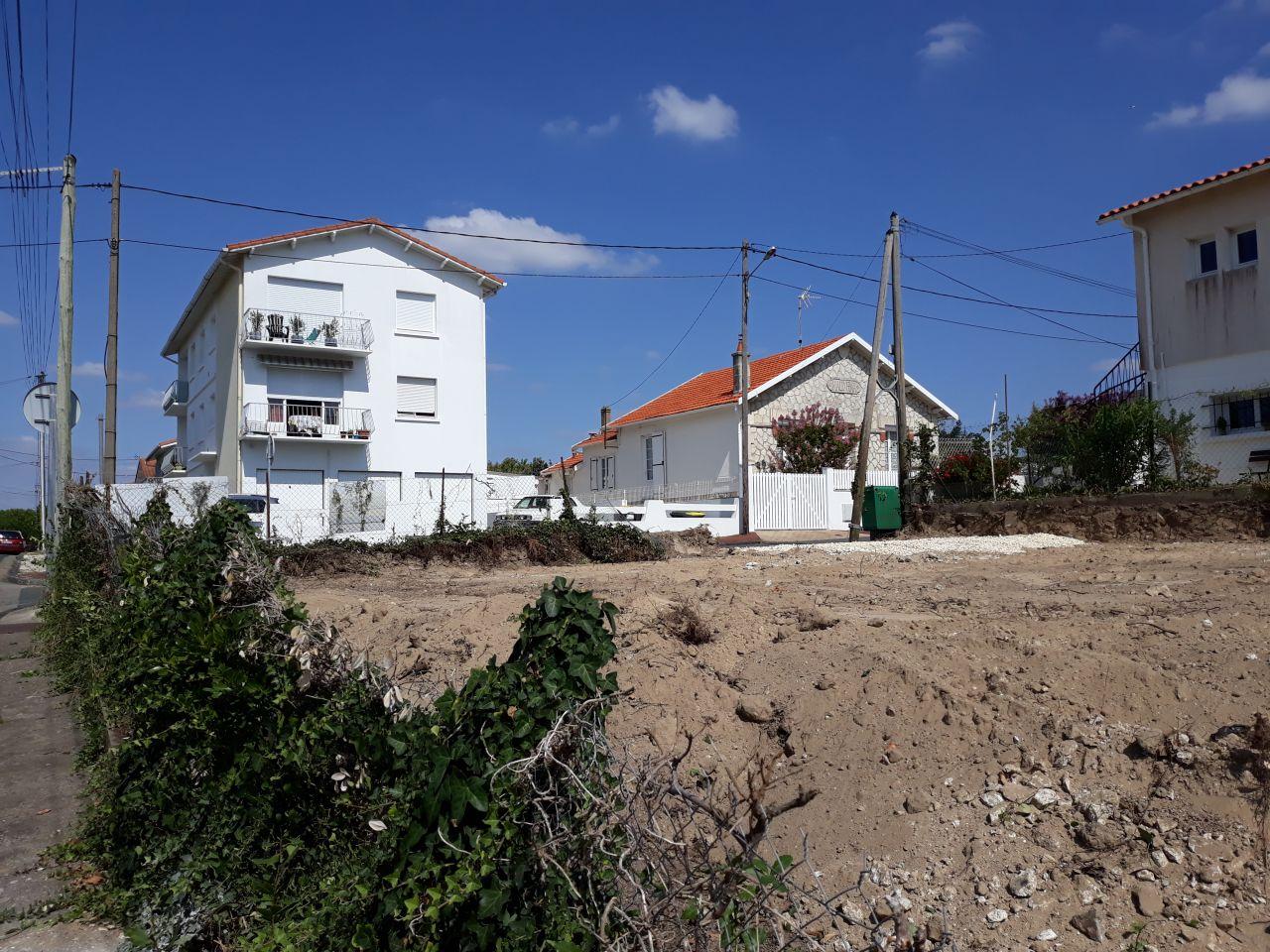Le terrain après le terrassement