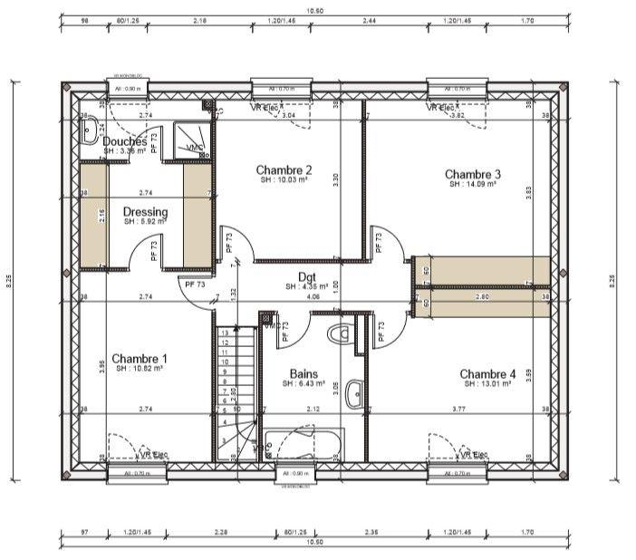 etage avant modification