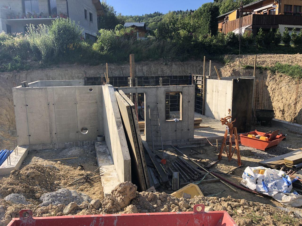 Elevation des murs