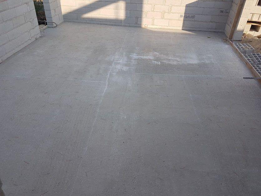 Préparation dalle garage