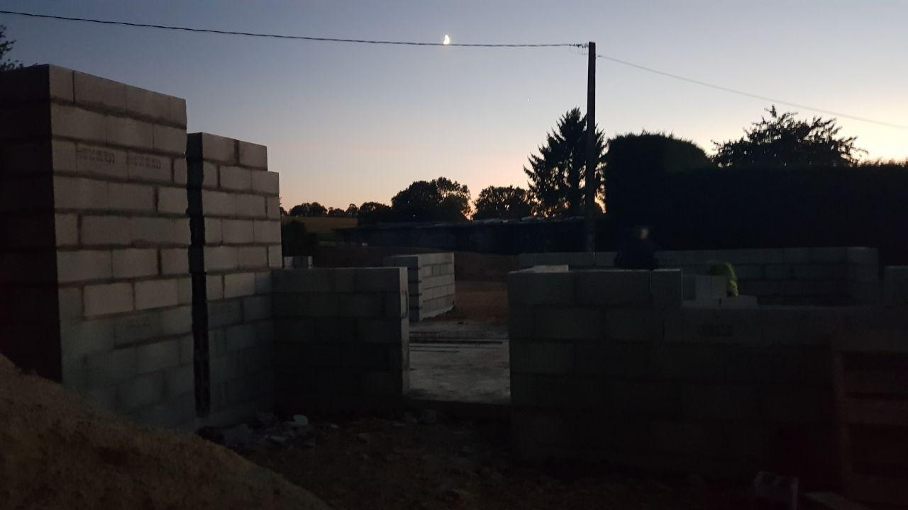 Elevation des murs 14 septembre 2018