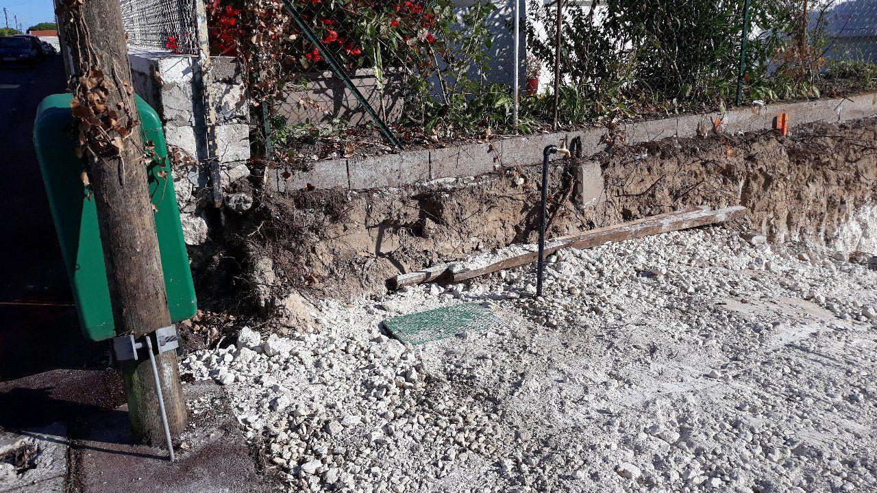 travaux pour le branchement au réseau d'eau potable