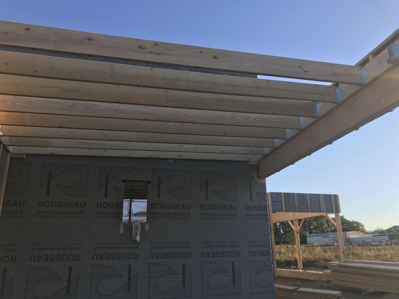 Charpente toit carport