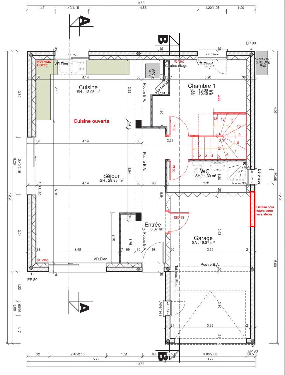 Plan avec modifications souhaitées (préparation MAP)