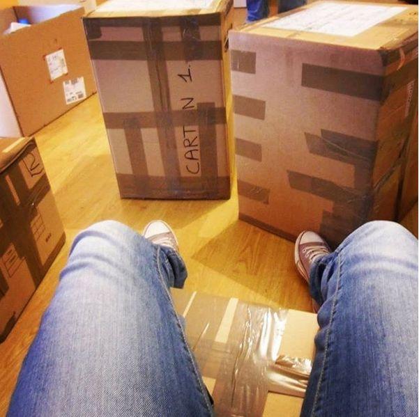 Les cartons...