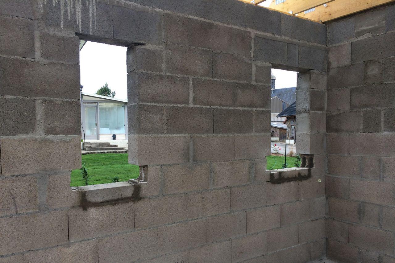 Prépa des appuis de fenêtres.
