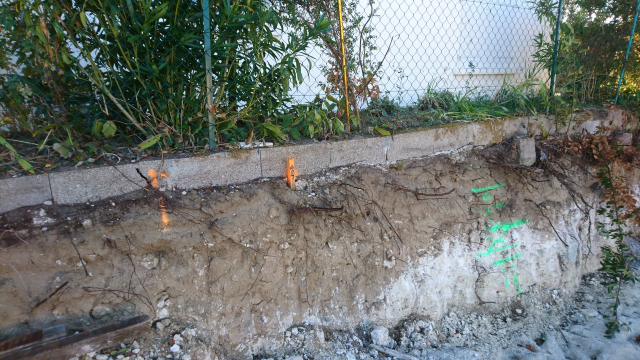 La clôture du voisin (avant sa démolition)
