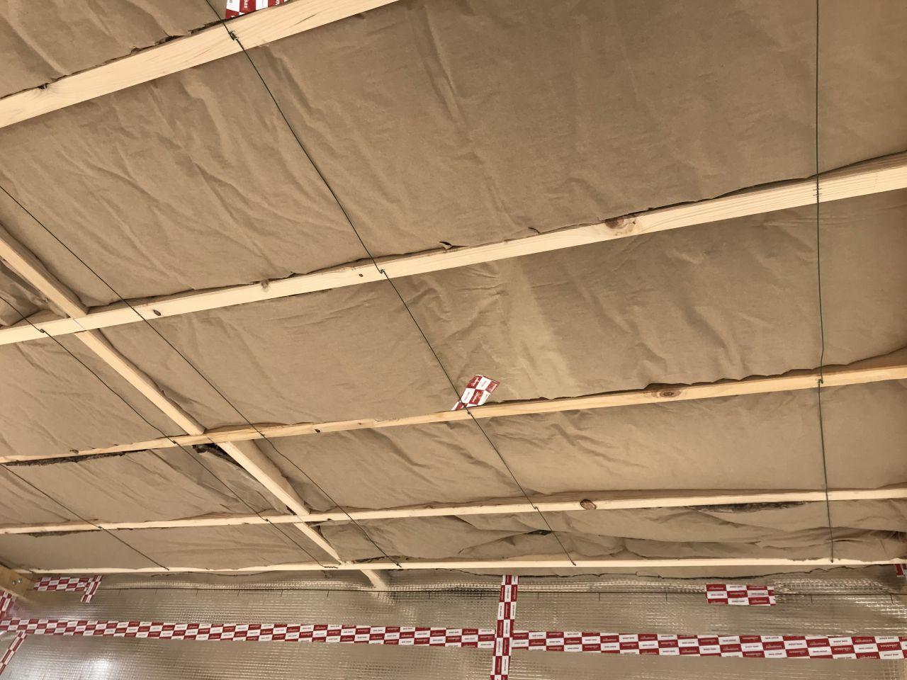 isolation sous-plancher étage en laine de verre Knauf insulation 200mm (Liant naturel sans formaldéhyde ni phénol)