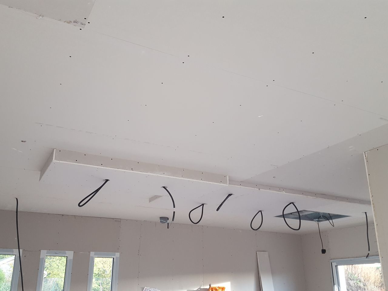 Faux plafond dans la cuisine