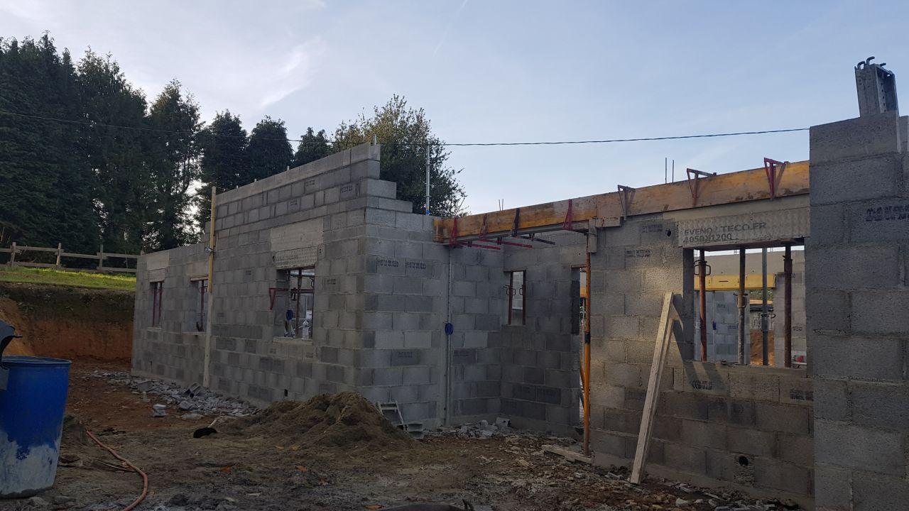 Elevation des murs au 29/09/2018