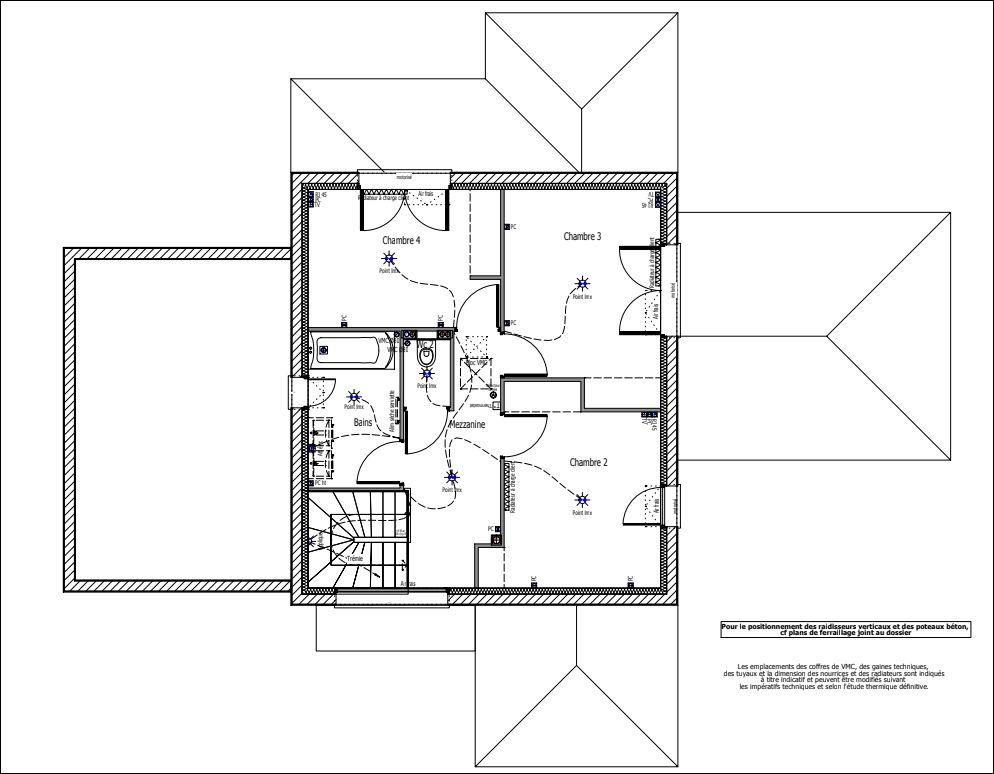 Plan d'exécution final étage.