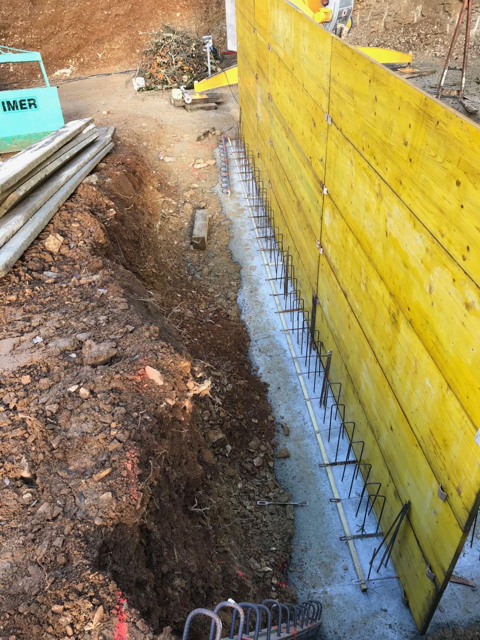 Fondations et banches pour murs sous-sol