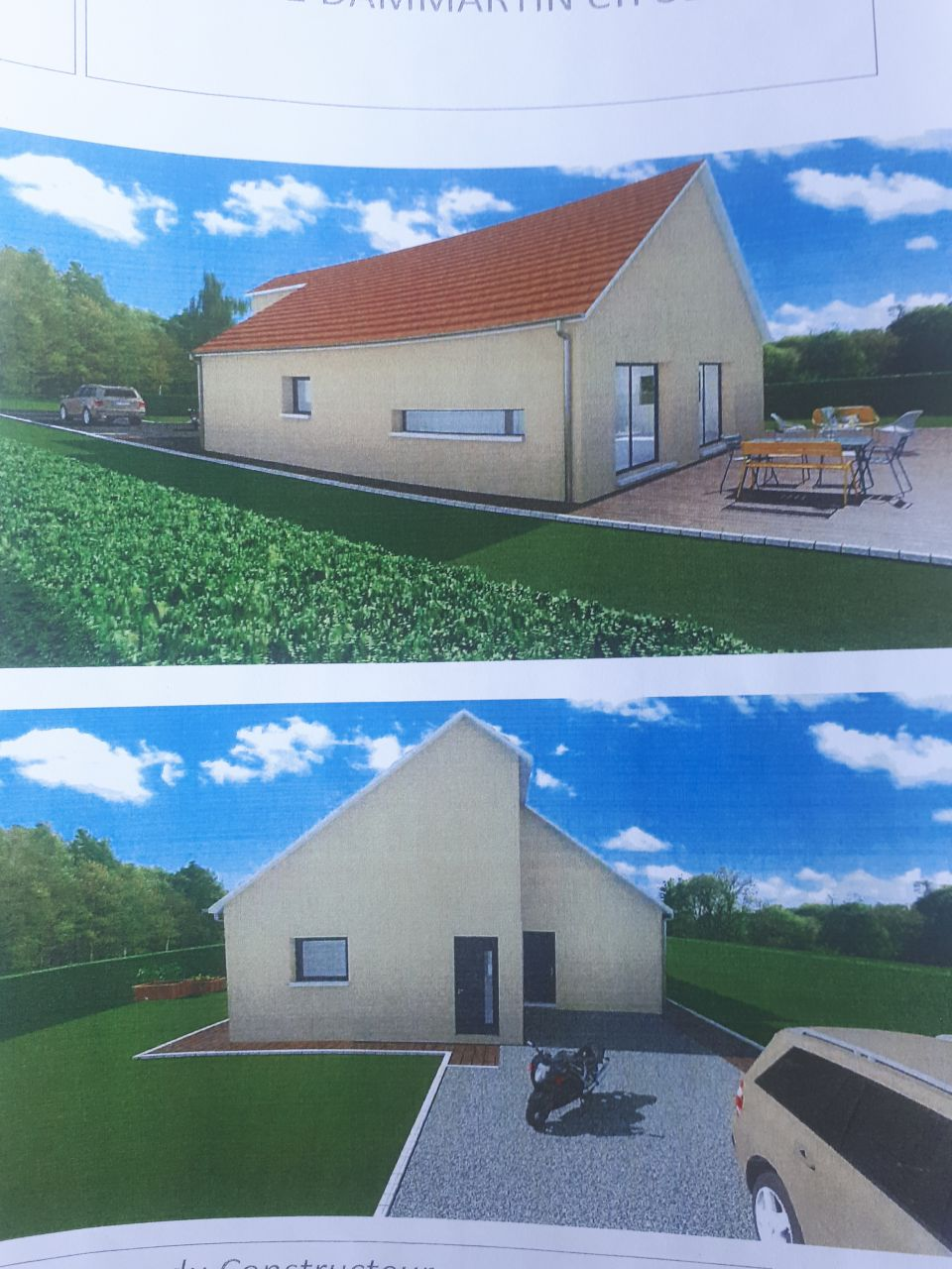j'ai une vue précise de la maison dont je rêvais. il y aura 2 cuves de 5000L pour la récupération d'eau de pluie et utilisation pour la maison.
