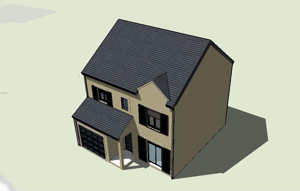 visuel maison géolocalisée (sketchup ; version 1)