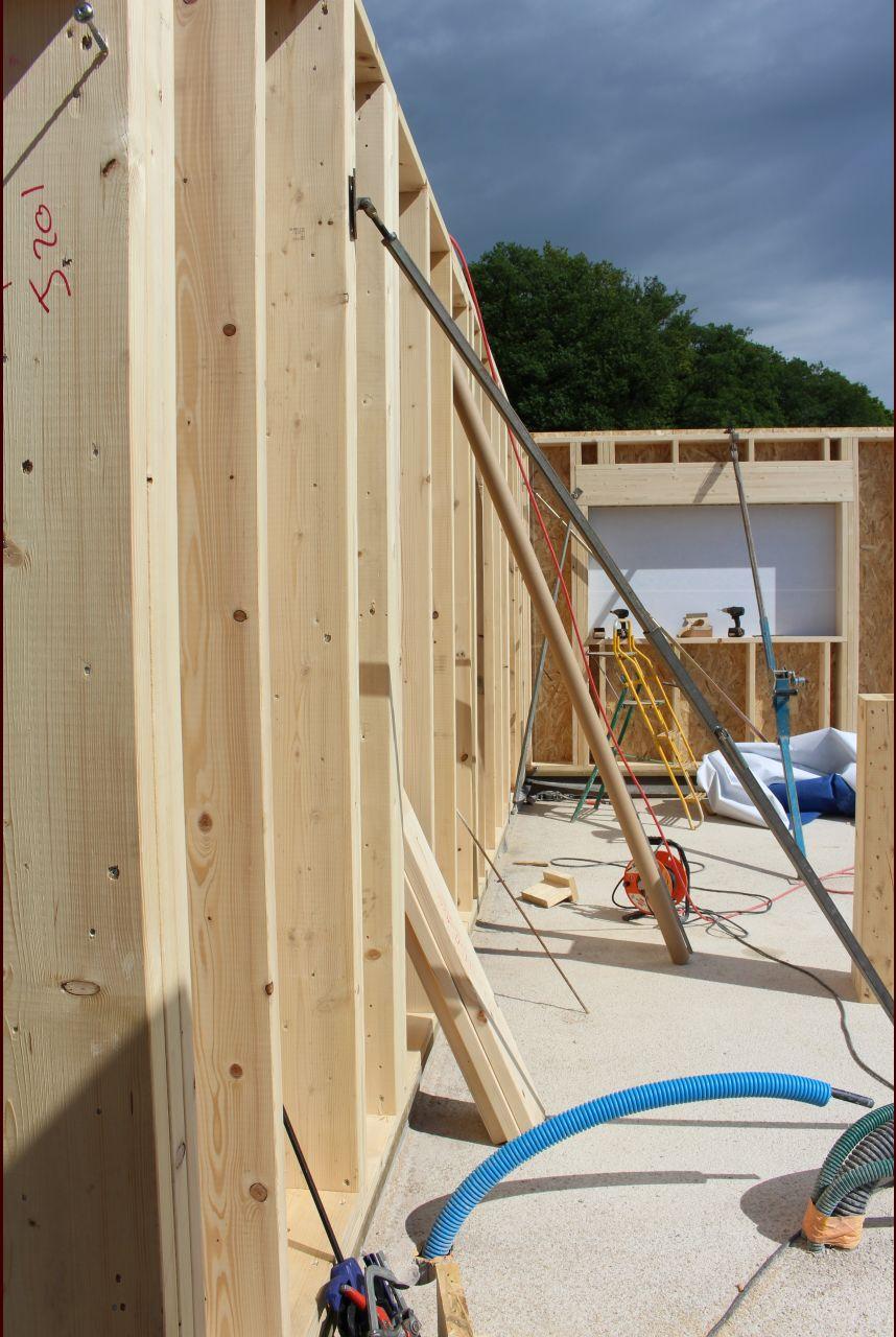 Mur habitation/garage