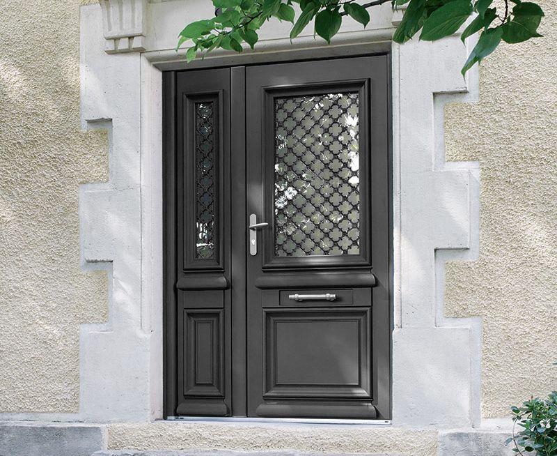 Porte Athéna - avec tierce - noir sablé