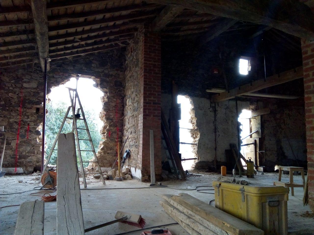 Ouvertures en cours baie vitrée cuisine et salle à manger