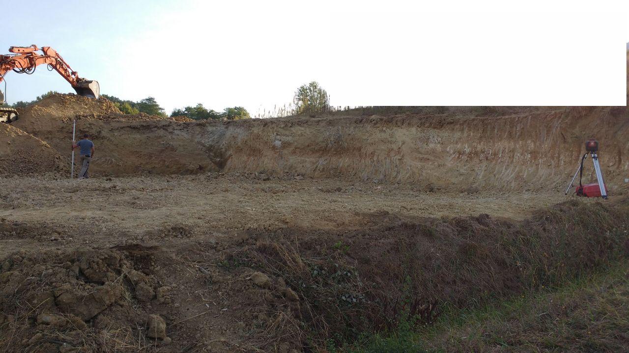 Terrassement pour fondation