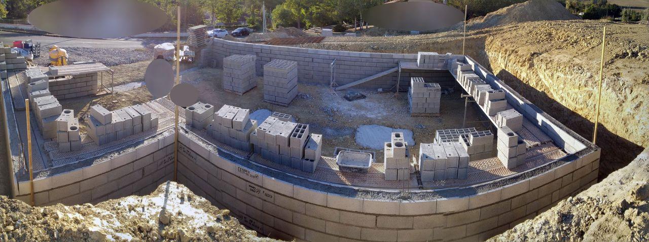Murs du sous sol - Ceinture intermédiaire