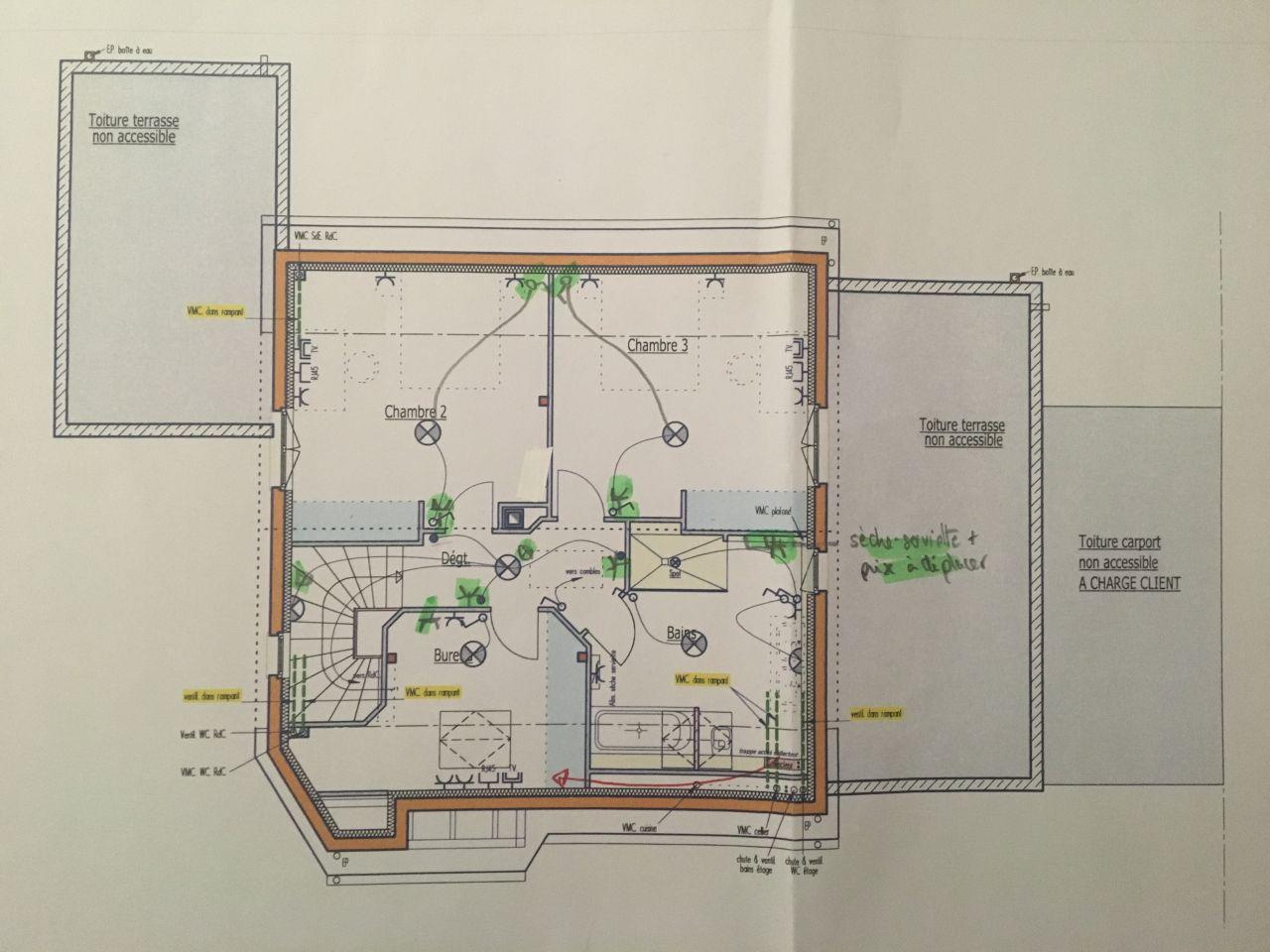 Plan électrique 1er étage - version 1
