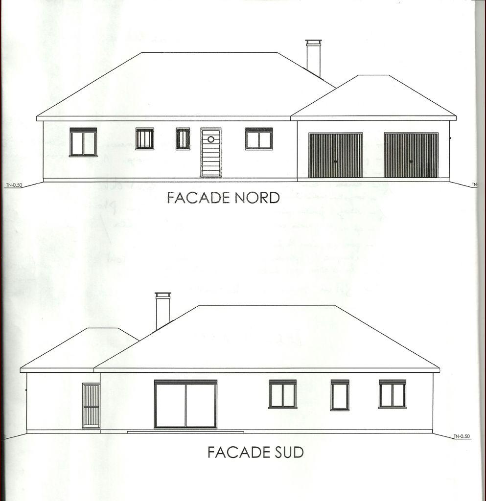 plan de maison vue de face