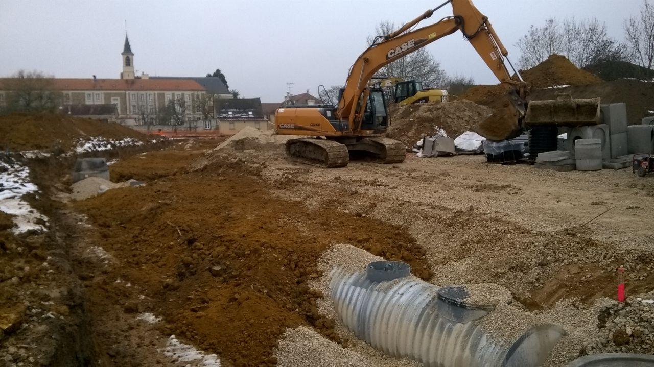 25/01/2019 Tubosider en place, comblement des fouilles en cours