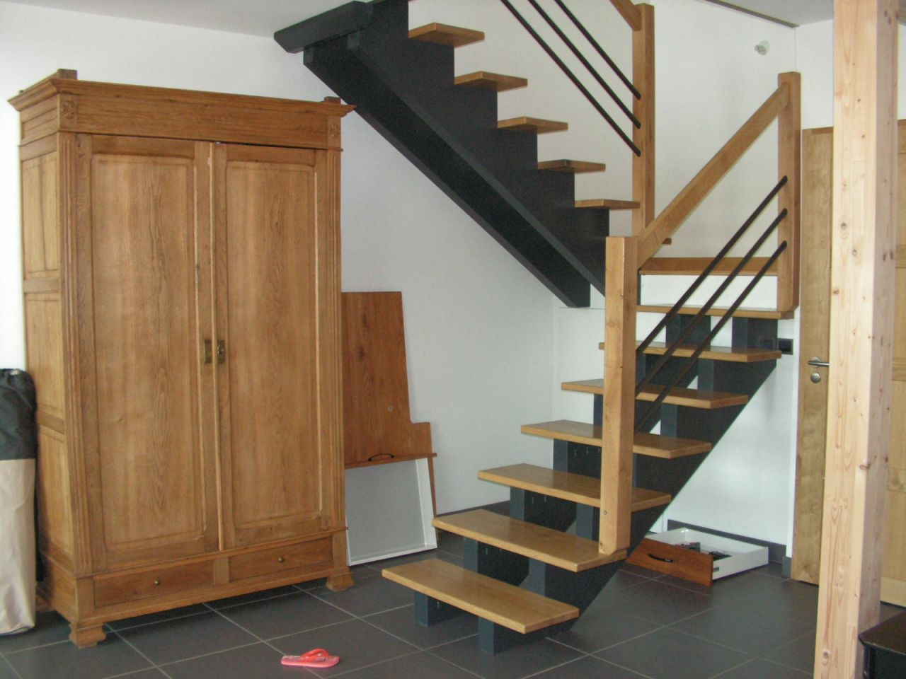 escalier avec rambarde