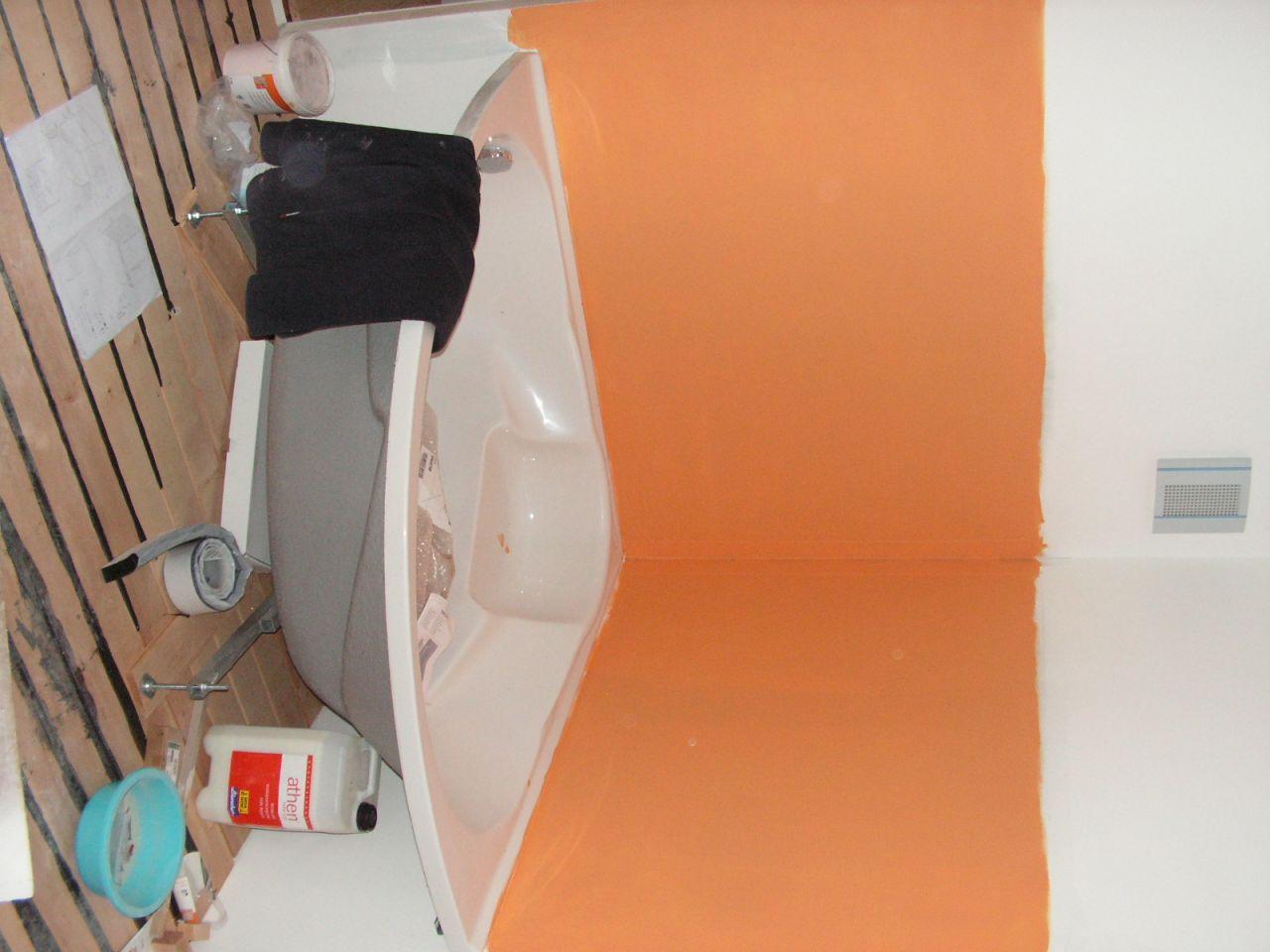 le orange c'est pas la peinture c'est l'étanchéité!