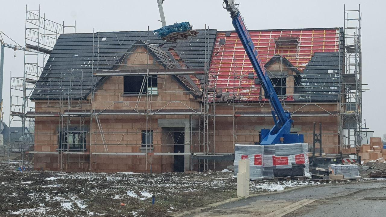 Couverture toiture en cours