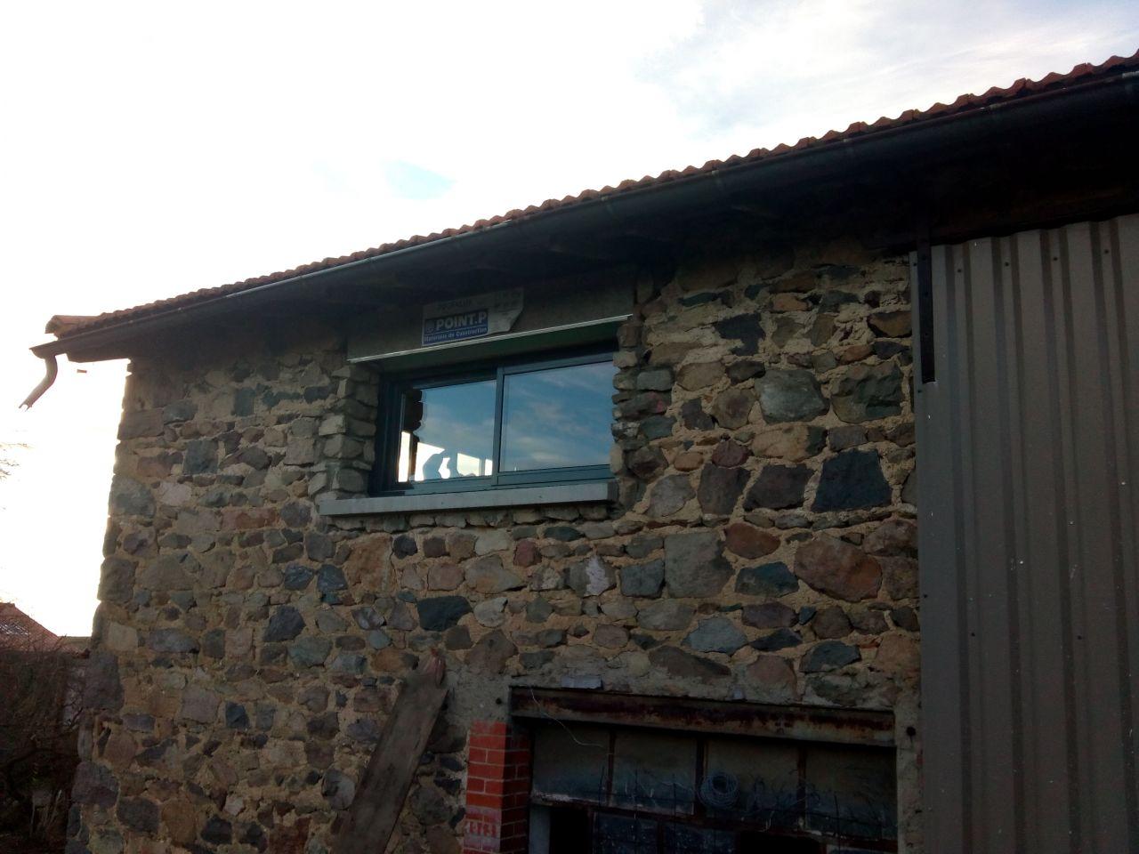 Fenêtre coulissante 2 vantaux cuisine