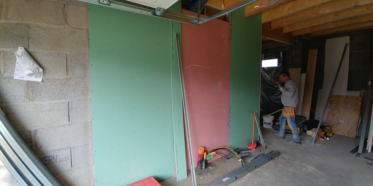Cloison garage/cellier