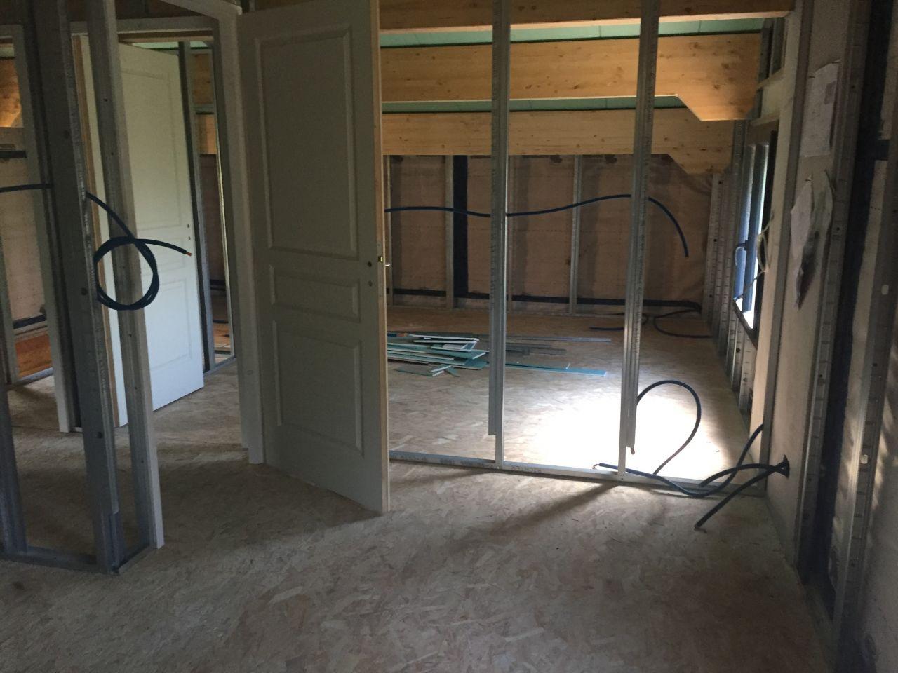 mise en place rails etage