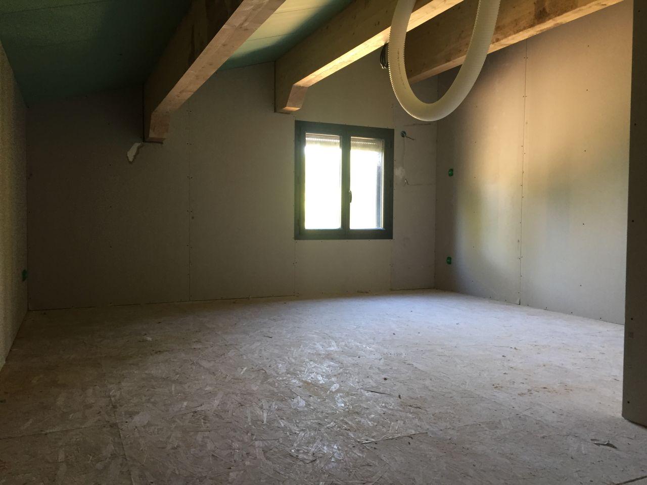 Mise en place du placo chambre etage
