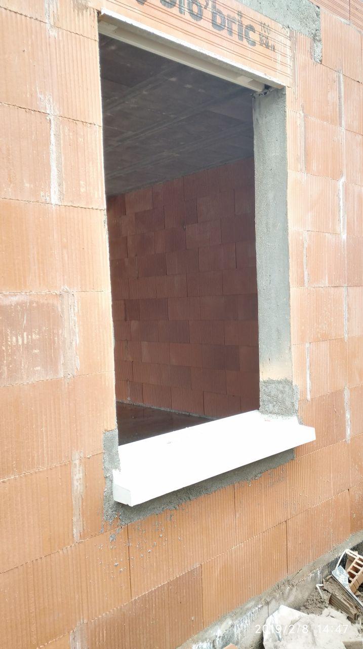 réalisation des appuis de fenêtres