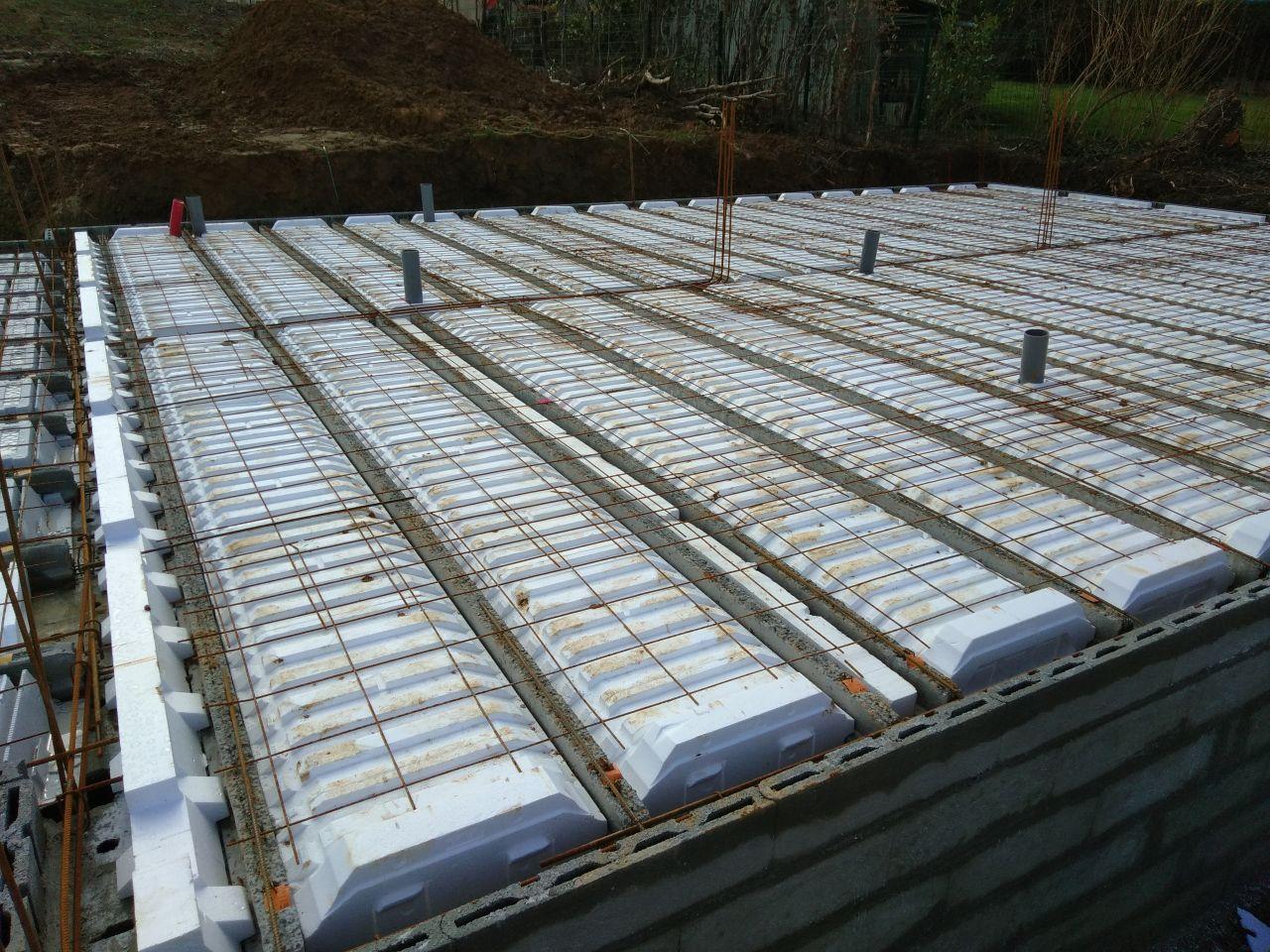 Construction de la dalle