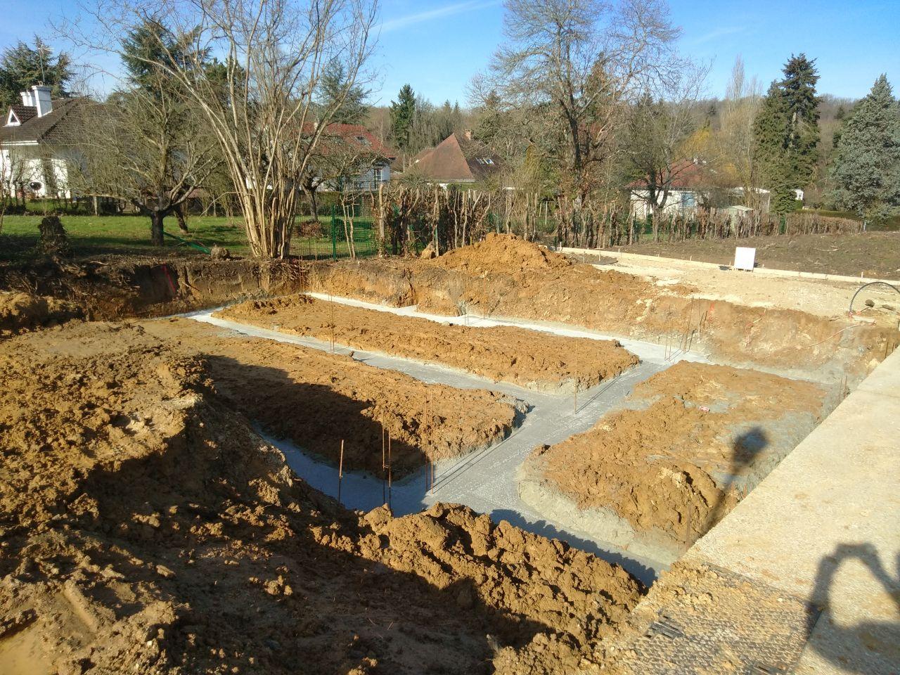 Fondations de la construction