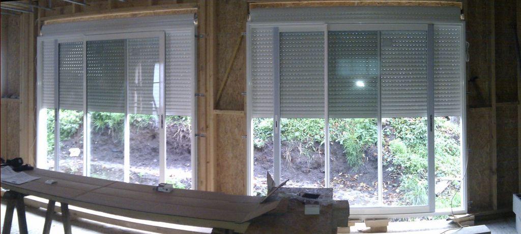 sous toiture pos e pose suspentes rails plafond rdc baies vitr e ok mise en. Black Bedroom Furniture Sets. Home Design Ideas