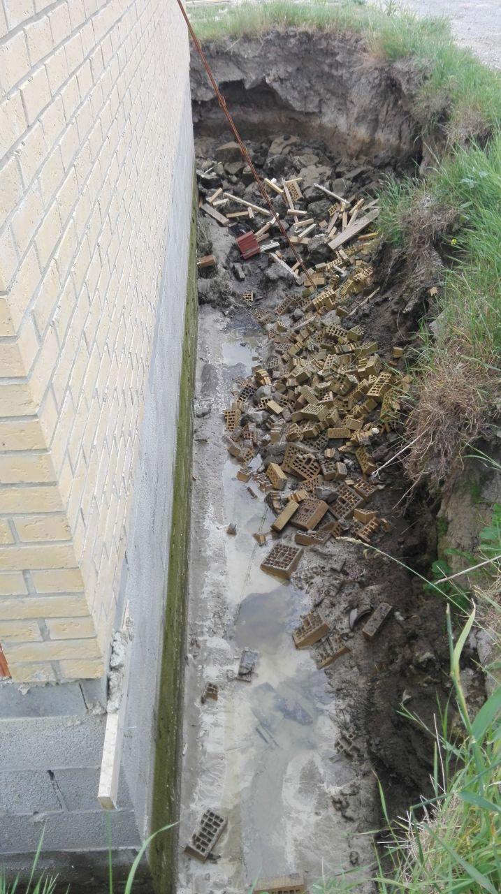 pompage en vue des travaux de drainage