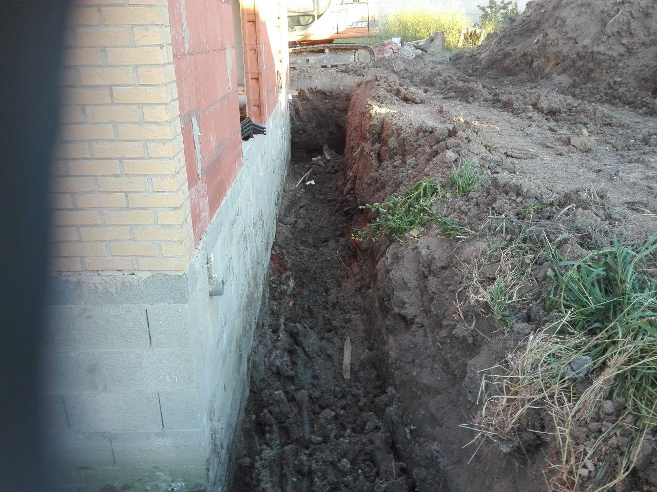 préparation pour drainage du VS