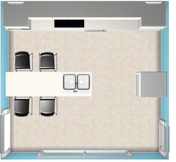 Implantation meubles cuisine
