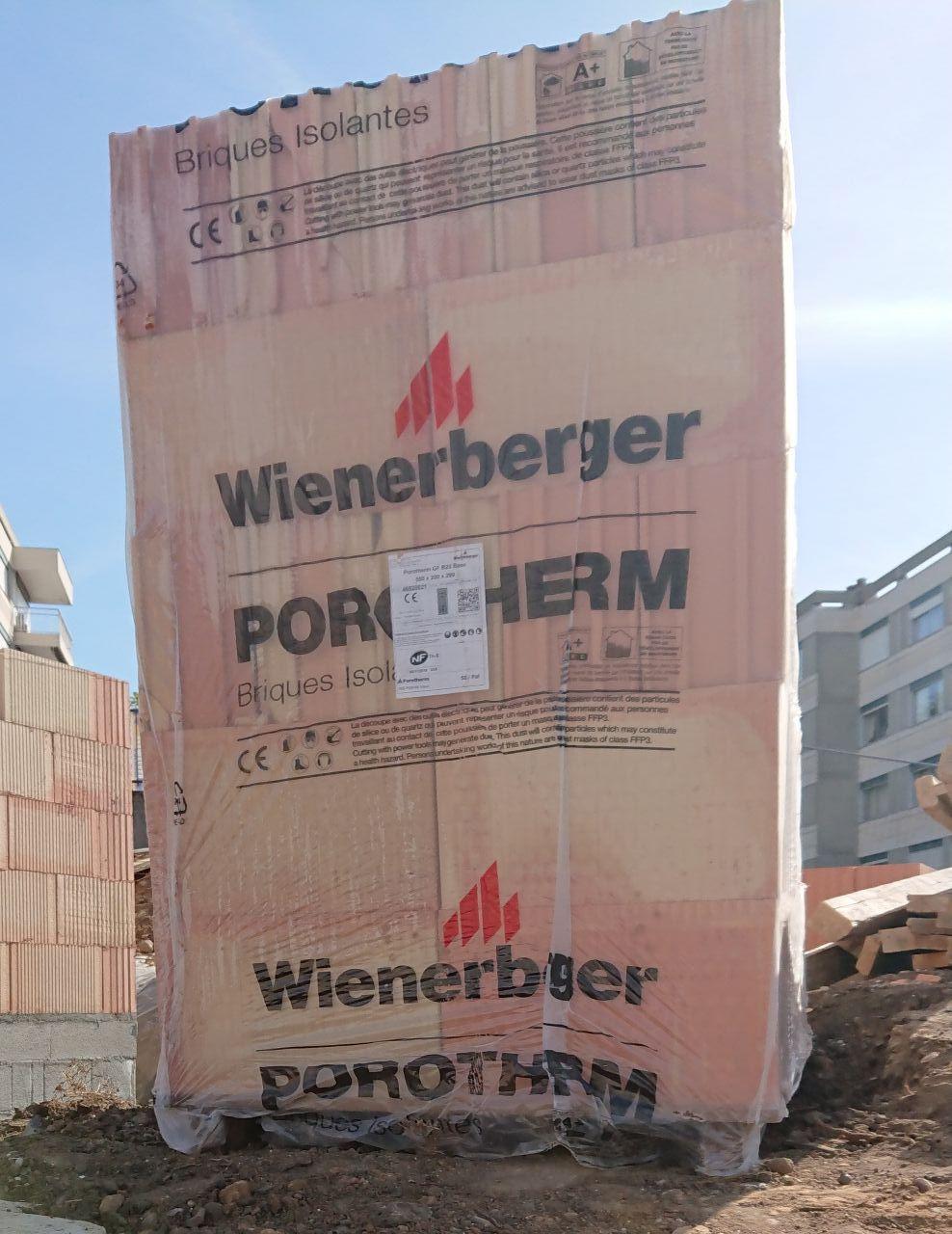 brique porotherm GRF20 de WIENBERGER
