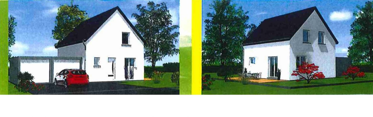 1er rendu 3D d'après un modèle fourni par le constructeur <br /> La terrasse sera juste sur l'avant et non de côté