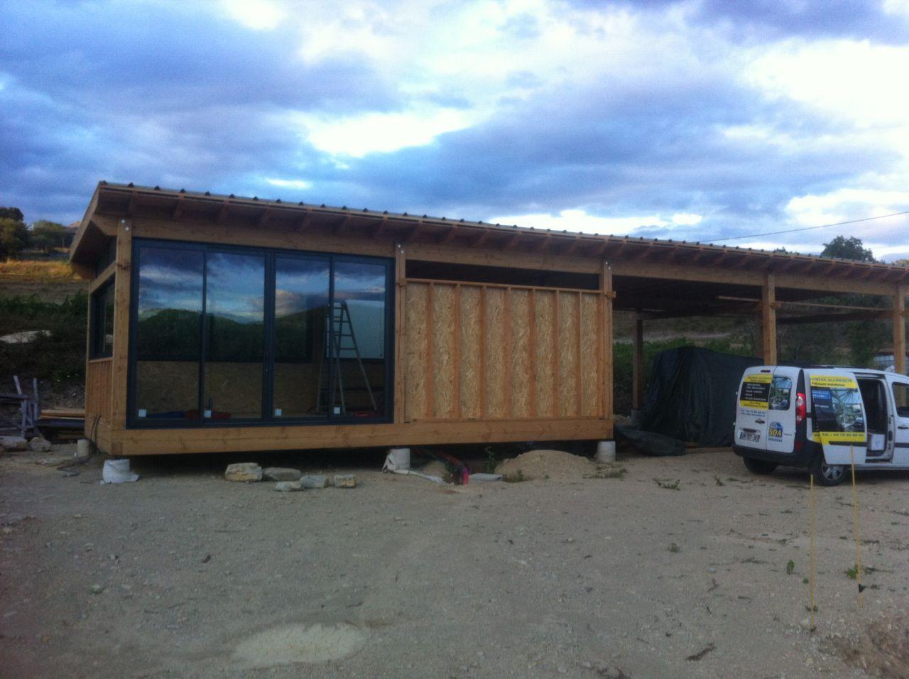 Coulissant de la façade installé (4m x 2.7m)