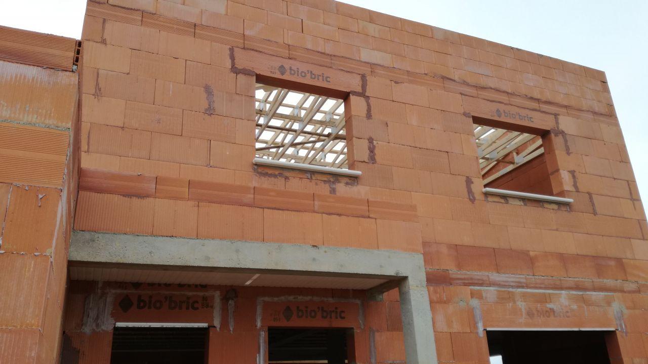 charpente toit plat posée - vue étage